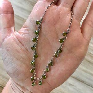Jewelry - Green jewel necklace/earring set